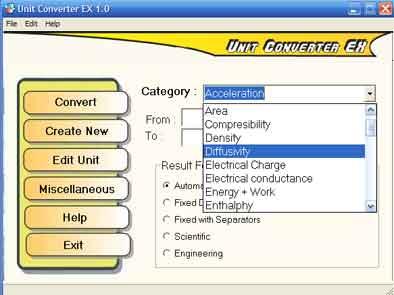 نرم افزار unit converter