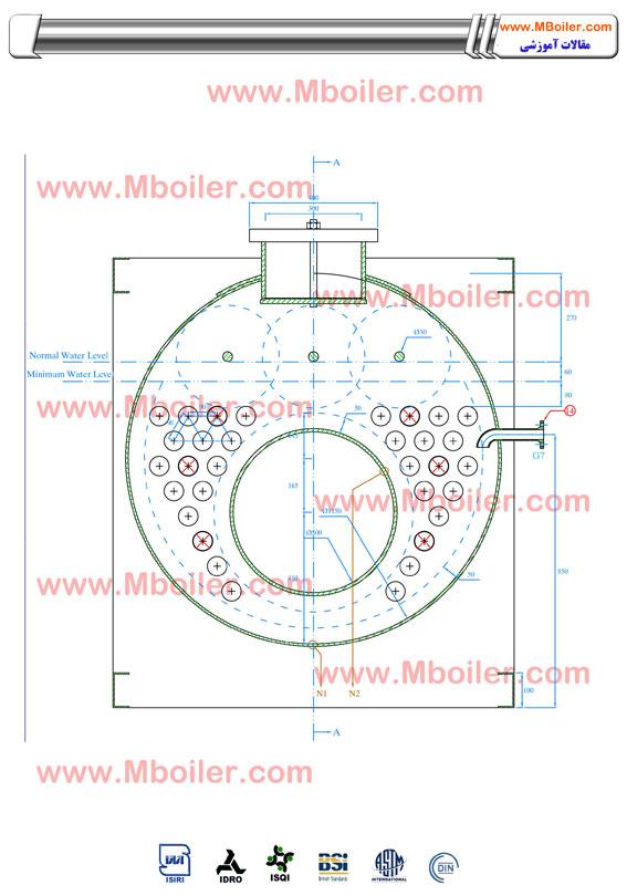 نقشه ساخت دیگ بخار 500 کیلوگرم - تولید بویلر بخار