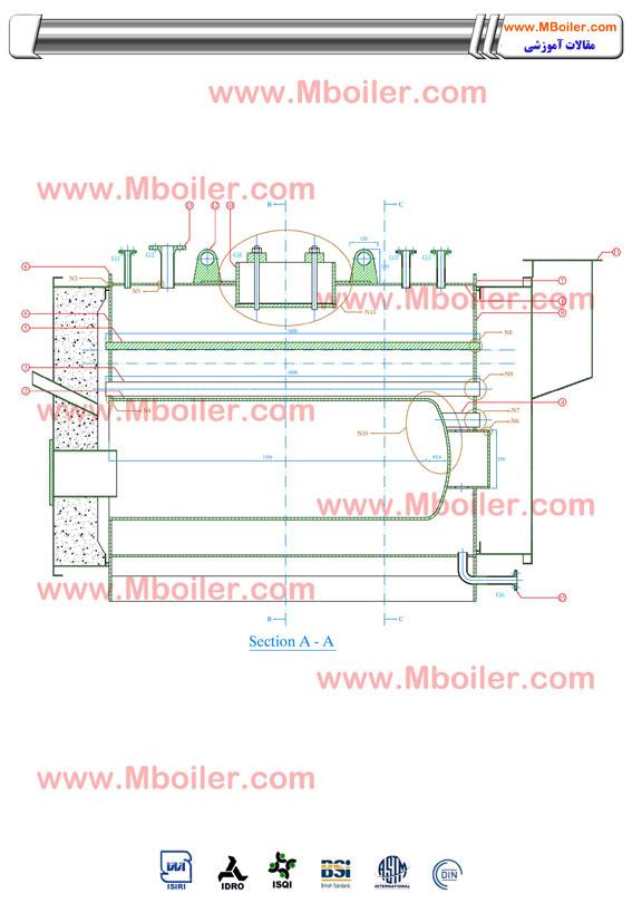 نقشه ساخت دیگ بخار 500 کیلوگرم - تولید دیگ بخار