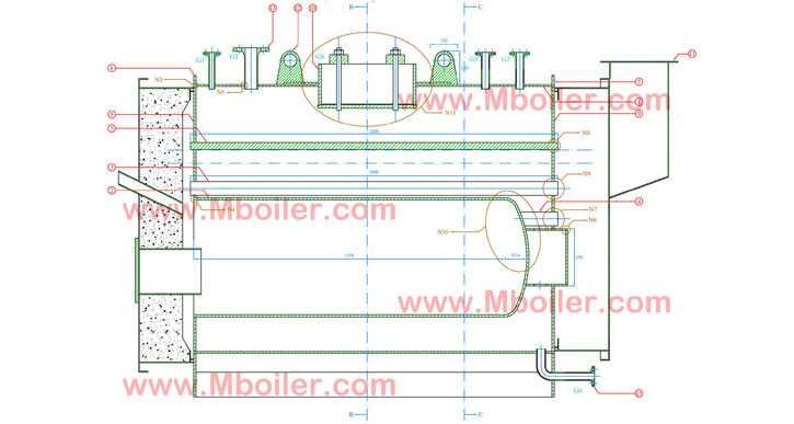 نقشه ساخت دیگ بخار 500 کیلوگرم
