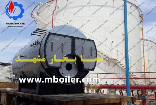 دیگ بخار 5 تن نصب شده در پایانه های نفتی جنوب