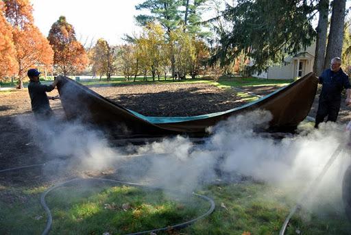 steam boiler and soil