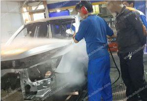 استفاده از دستگاه بخار ژنراتوری (طرح جدید دیگ بخار) در کارخانه ایران خودرو
